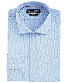 Lauren Ralph Lauren Men's Slim-Fit Non-Iron Performance Stretch Geo-Print Dress Shirt