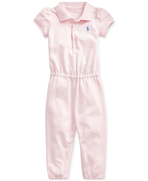 Polo Ralph Lauren Baby Girls Mesh One-Piece Romper