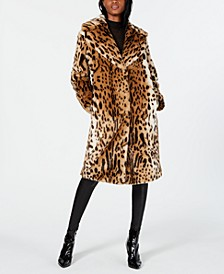 Faux-Fur Leopard-Print Coat