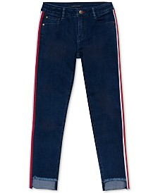 Tommy Hilfiger Big Girls Side-Stripe Step-Hem Skinny Jeans