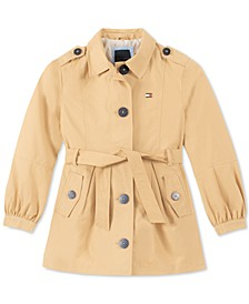 Toddler Girls Belted Trench Coat