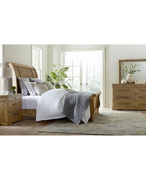 Furniture Trisha Yearwood Homecoming Wheat Sleigh Bed Collection