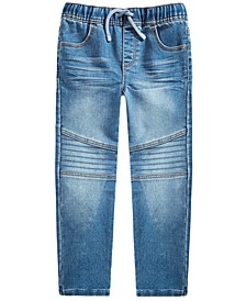 Toddler Boys Stretch Drawstring Moto Jeans, Created for Macy's