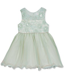 Baby Girls Sequin Embroidered Dress