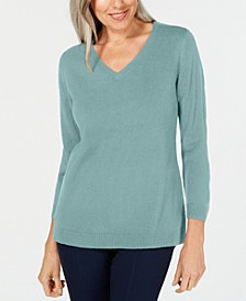Petite V-Neck Sweater, Created for Macy's
