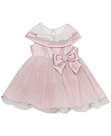 Baby Girls Bow-Trim Mikado Dress