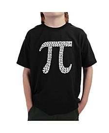 Big Boy's Word Art T-Shirt - The First 100 Digits of Pi
