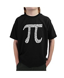 LA Pop Art Big Boy's Word Art T-Shirt - The First 100 Digits of Pi