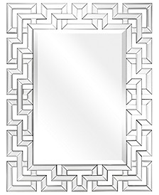 """Solid Wood Covered with Beveled Antique Mirror Panels - 31"""" x 40"""""""