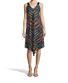 Printed Point Hem Dress