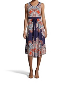 John Paul Richard Paisley Print Dress Sleeveless Dress