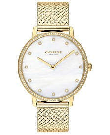 Women's Audrey Gold-Tone Stainless Steel Bracelet Watch 35mm, Created For Macy's