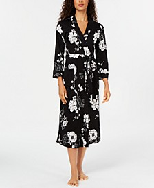 Printed Cotton Long Knit Robe, Created for Macy's
