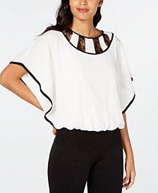 Lace-Inset Blouse, Created for Macy's