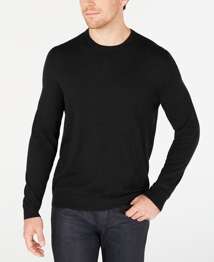 Alfani - Men's Solid Crewneck Sweater