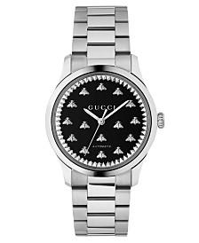 Gucci Unisex Swiss Automatic Stainless Steel Bracelet Watch 38mm