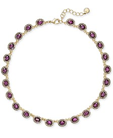 "Crystal Collar Necklace, 17"" + 2"" extender, Created for Macy's"