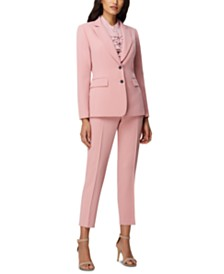 Tahari ASL Two-Button Blazer & Ankle Pants