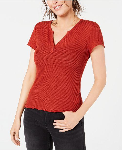 Ultra Flirt Juniors' Lace-Back T-Shirt