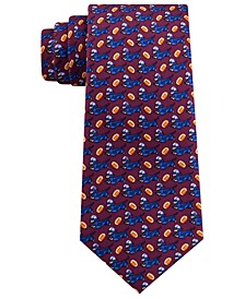 Men's Classic Animal-Print Silk Tie