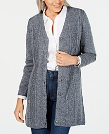 Petite Turbo Button-Front Cardigan, Created for Macy's