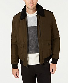 Men's Military Flight Jacket With Sherpa Collar