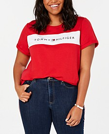 Plus Size Logo-Graphic T-Shirt, Created for Macy's