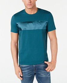 Michael Kors Men's Bonded Satin Stripe T-Shirt