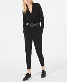 Michael Michael Kors Belted Jumpsuit, Regular & Petite Sizes