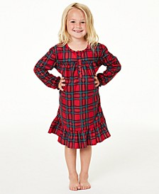 Matching Kids Brinkley Plaid Family Pajama Nightgown, Created for Macy's