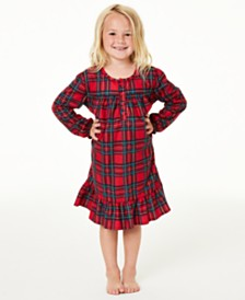 Matching Family Pajamas Kids Brinkley Plaid Nightgown, Created For Macy's
