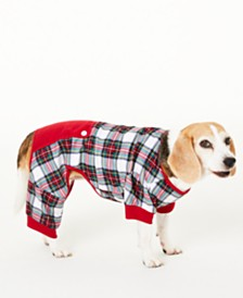 Matching Family Pajamas Stewart Plaid Pet Pajamas, Created for Macy's
