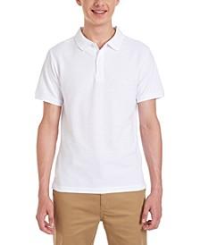 Young Men Short Sleeve Double Pique Polo
