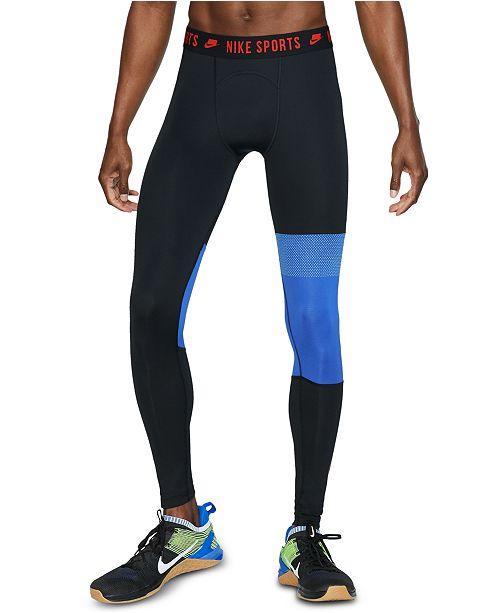 Nike Men's Pro Sport Clash Colorblocked Compression Leggings