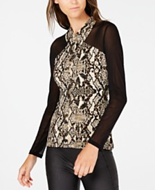 I.N.C. Crisscross Illusion Top, Created for Macy's