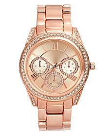 INC Women's Rose Gold-Tone Bracelet Watch 41mm, Created For Macy's