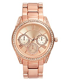 I.N.C. Women's Rose Gold-Tone Bracelet Watch 41mm, Created For Macy's