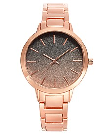 INC Women's Rose Gold-Tone Glitter Bracelet Watch 40mm, Created for Macy's