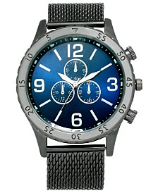 I.N.C. Men's Gunmetal Gray Mesh Bracelet Watch 47mm, Created For Macy's