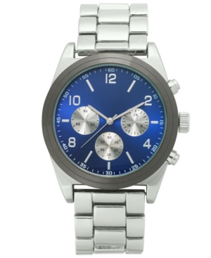 INC INTERNATIONAL CONCEPTS INC MEN'S SILVER-TONE BRACELET WATCH 49MM, CREATED FOR MACY'S