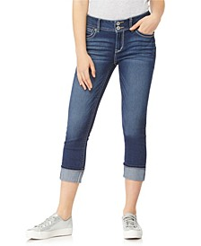 """Luscious Curvy 23.5"""" Roll Cuff Crop Capri Jeans"""