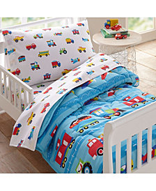 Wildkin's Trains, Planes and Trucks 4 Pc Bed in a Bag - Toddler