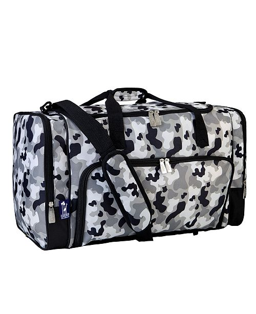 Wildkin Gray Camo Weekender Duffel Bag
