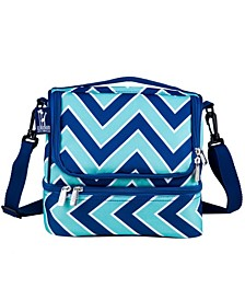 Zigzag Lucite Two Compartment Lunch Bag