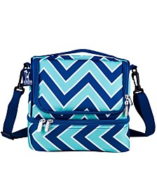Wildkin Zigzag Lucite Two Compartment Lunch Bag
