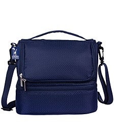 Rip-Stop Blue Two Compartment Lunch Bag