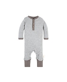 Burt's Bees Baby Organic Cotton Henley Coverall