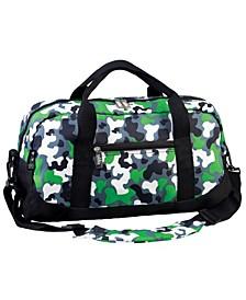 Green Camo Overnighter Duffel Bag