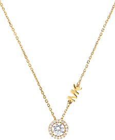 Michael Kors Sterling Silver Cubic Zirconia Pendant Necklace