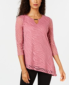 JM Collection Burnout Tunic, Created for Macy's